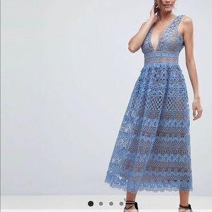 Boohoo Lace MIDI Dress from ASOS